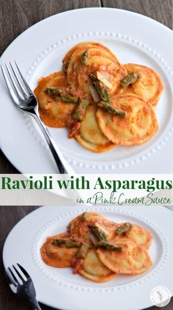 This recipe for Ravioli with Asparagus in a Pink Cream Sauce is delicious and so easy to make. It's perfect for any special occasion or a weeknight meal.