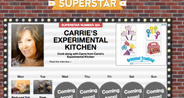 Carrie's Experimental Kitchen is this weeks' Cut Out + Keep Cooking Superstar