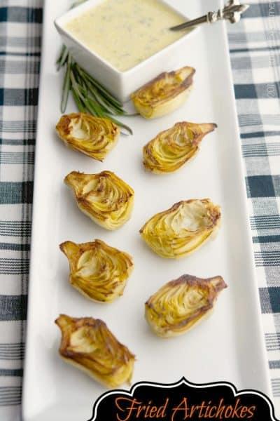 Fried Artichokes with Rosemary Garlic Aioli