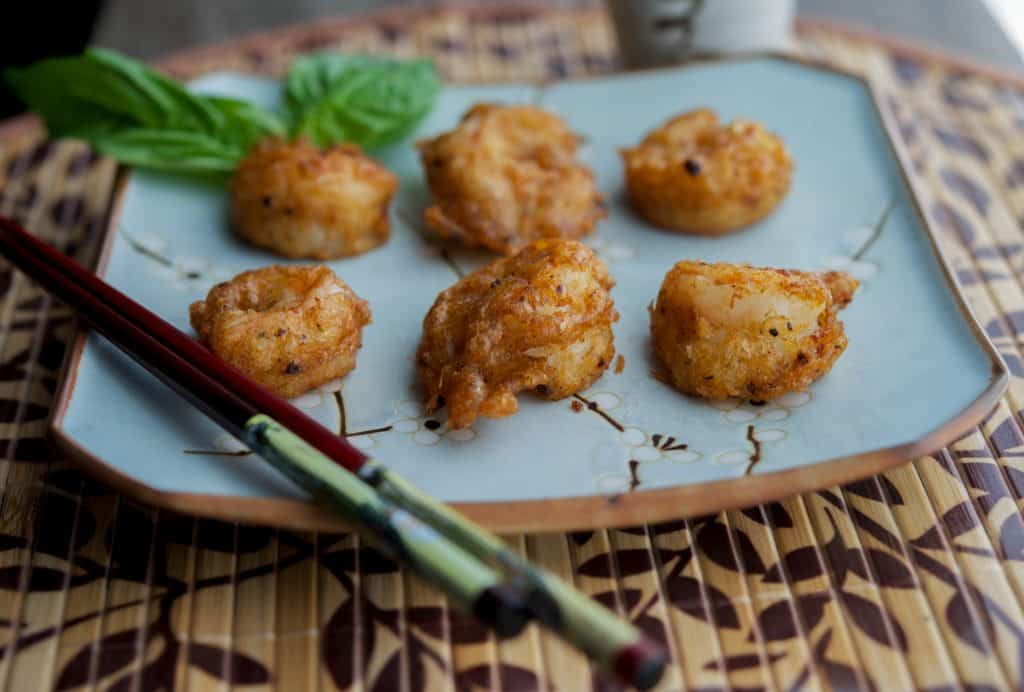 tomato basil tempura shrimp 2