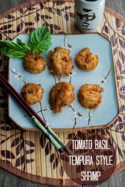 Tomato Basil Tempura Style Shrimp | CarriesExperimentalKitchen.com