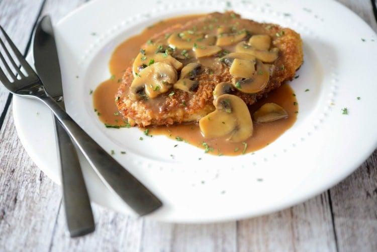 Jagerschnitzel (pork cutlet)