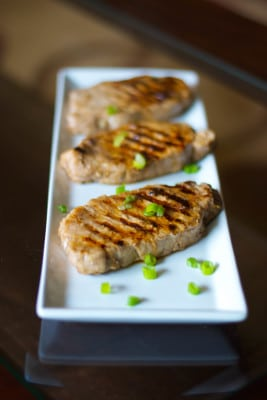 Lemon Ginger Grilled Pork Chops