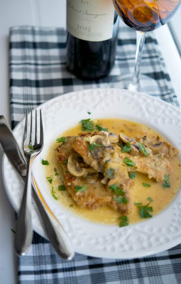 Pork Marsala made with thin, center cut pork loin in a mushroom, Marsala wine sauce is easy enough to make during the week or can be made in larger quantities for larger get togethers.