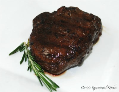 Wine and balsamic Filet mignon