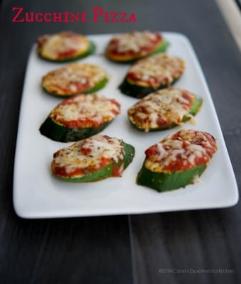 Turn your garden fresh zucchini into a healthy snack or appetizer with these Zucchini Pizzas. The kids will love them.
