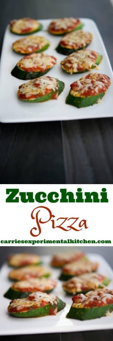 Turn your garden fresh zucchini into a healthy snack with these Zucchini Pizzas. The kids will love them. #zucchini #snacks #healthyrecipes #healthy