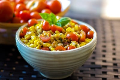 corn and cherry tomato salad