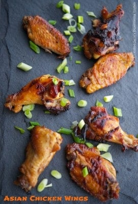 Asian Chicken Wings | Carrie's Experimental Kitchen #chicken #gameday
