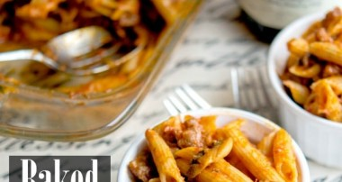 Baked Penne with Sausage & Mushroom Bolognese