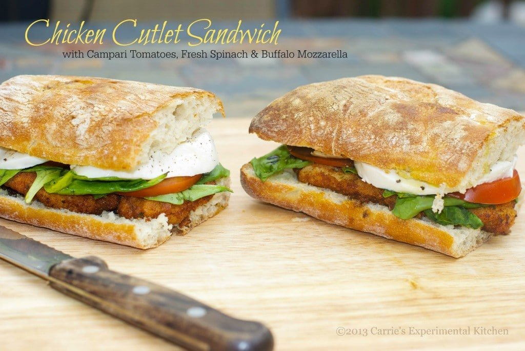 Chicken Cutlet Sandwich | Carrie's Experimental Kitchen
