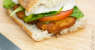 Chicken Cutlet Sandwich with Fresh Spinach, Campari Tomatoes & Buffalo Mozzarella