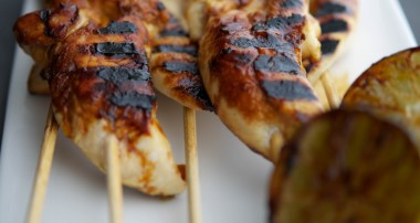 Honey-Lime Grilled Chicken Skewers