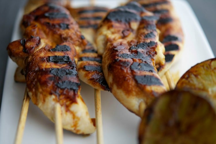 Honey Lime Grilled Chicken Skewers