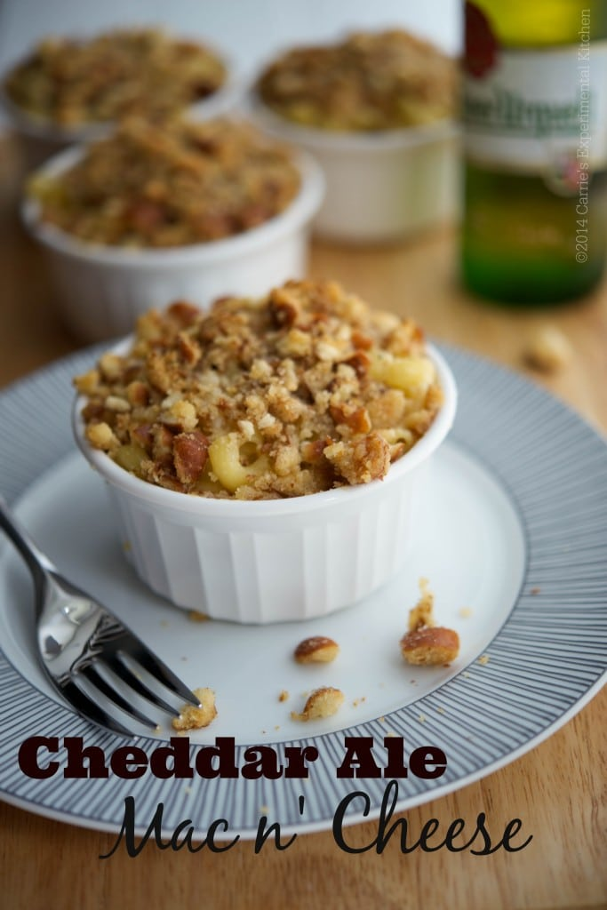 A creamy, grown up twist to classic mac n' cheese using cheddar, ale and a sourdough pretzel buttery crumb topping.