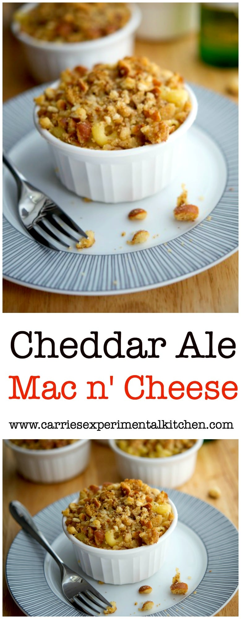 Cheddar Ale Mac n' Cheese: A creamy, grown up twist to classic mac n' cheese using cheddar, ale and a sourdough pretzel buttery crumb topping. #pasta #macandcheese
