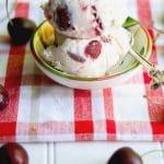 This homemade Cherry Vanilla Ice Cream made with fresh cherries, Madagascar vanilla, heavy cream, milk and sugar is super creamy and refreshing.