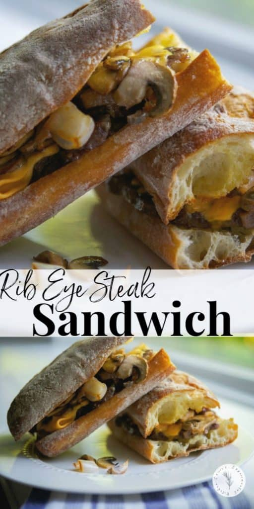 Tender beef rib eye steak sliced thin; then topped with sautéed mushrooms, onions and melted cheese on toasted Ciabatta rolls.