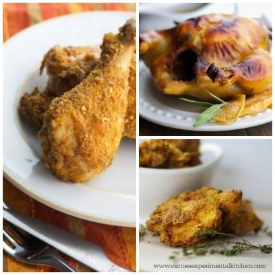 Baked, Roasted and Fried Chicken Collage