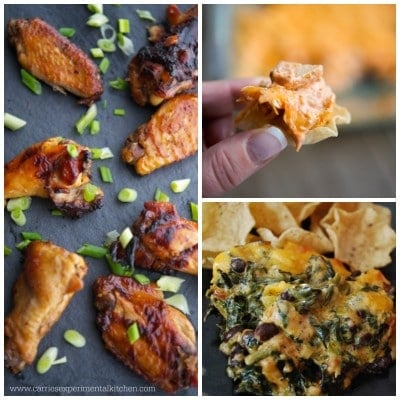 Chicken Appetizers Collage