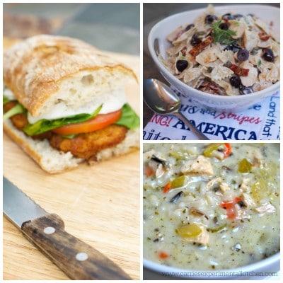 Soup, Salad & Sandwich Chicken Collage