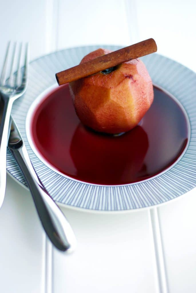 Chianti Poached Apples