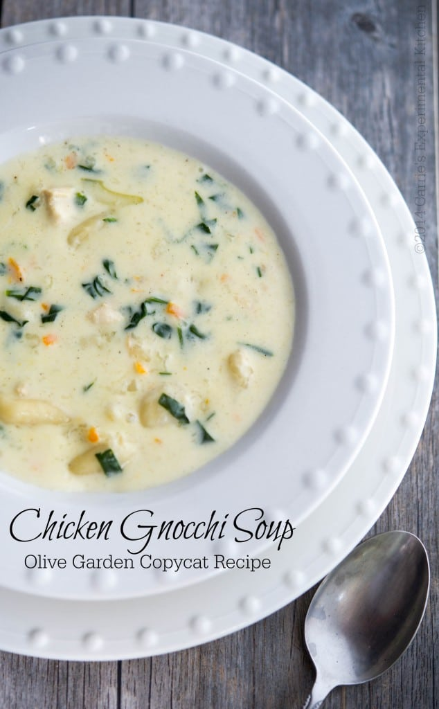 Olive Garden Chicken Gnocchi Soup (Copycat) - Carrie's Experimental ...