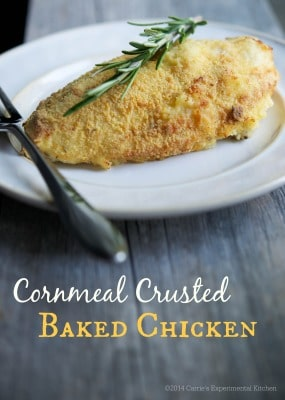 Cornmeal Crusted Baked Chicken | Carrie's Experimental Kitchen #chicken