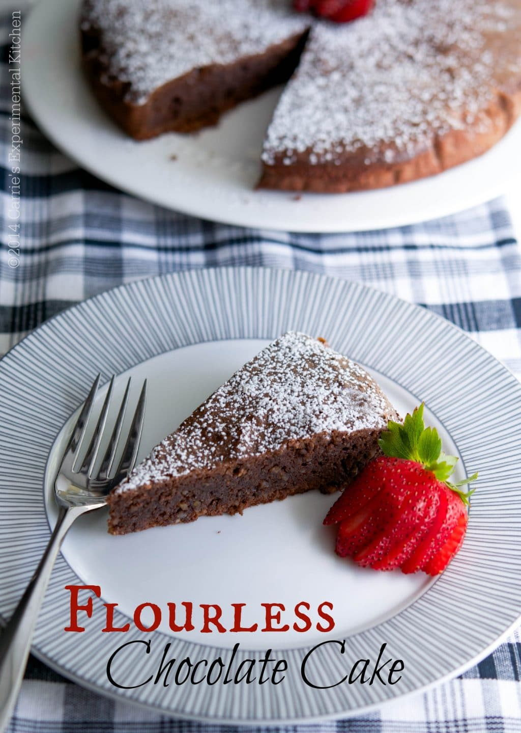 This Flourless Chocolate Cake is decadent and rich, just like a brownie and perfect for those following a gluten-free lifestyle.