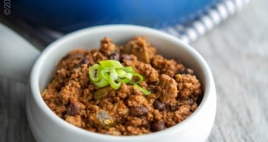Garden Vegetable Beef & Bean Chili