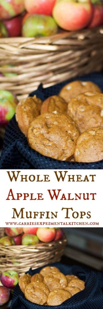 Whole Wheat Apple Walnut Muffin Tops are made with wholesome ingredients and are delicious. Eat them for breakfast or an afternoon snack.