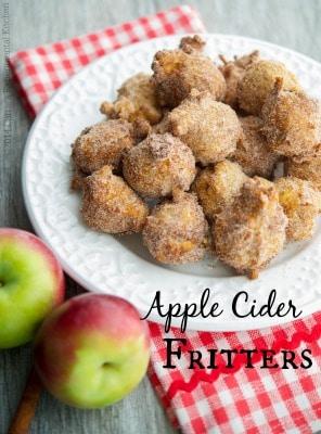 Apple Cider Fritters | Carrie's Experimental Kitchen #apples #dessert