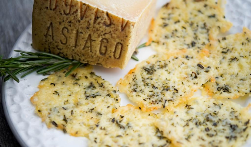Asiago & Rosemary Cheese Crisps