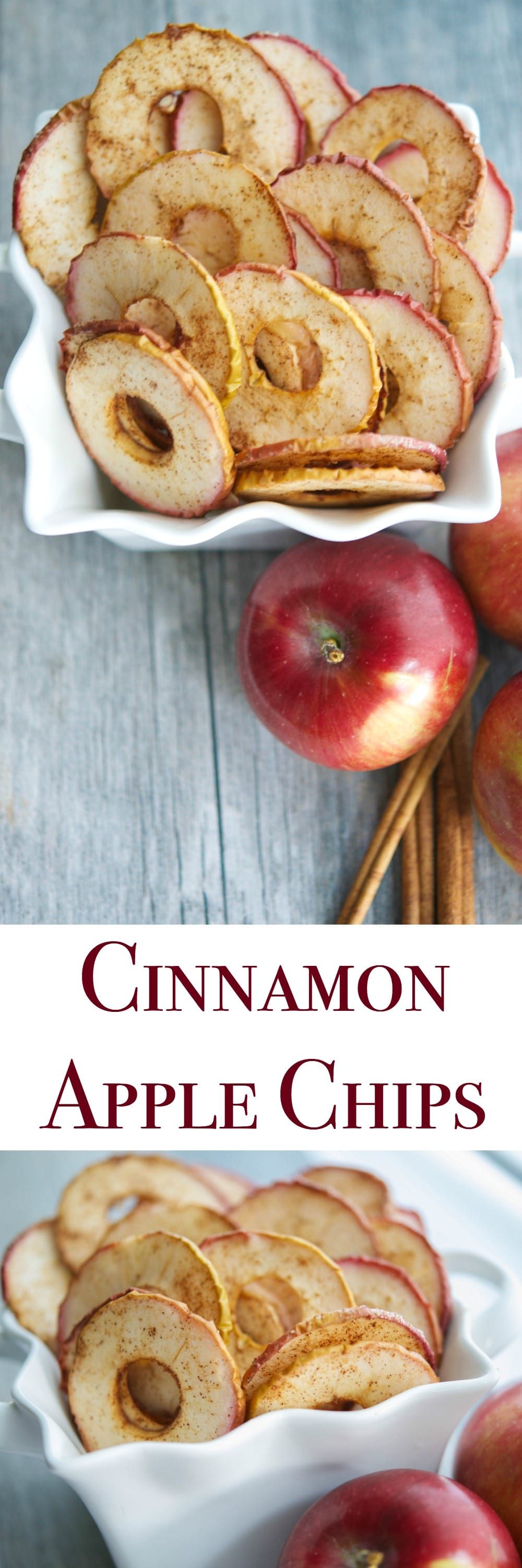 Cinnamon Apple Chips, made with a few simple ingredients like McIntosh apples, cinnamon and sugar are a healthy snack your whole family will love.