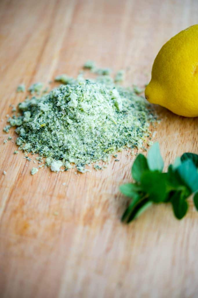 Oregano Lemon flavored salt