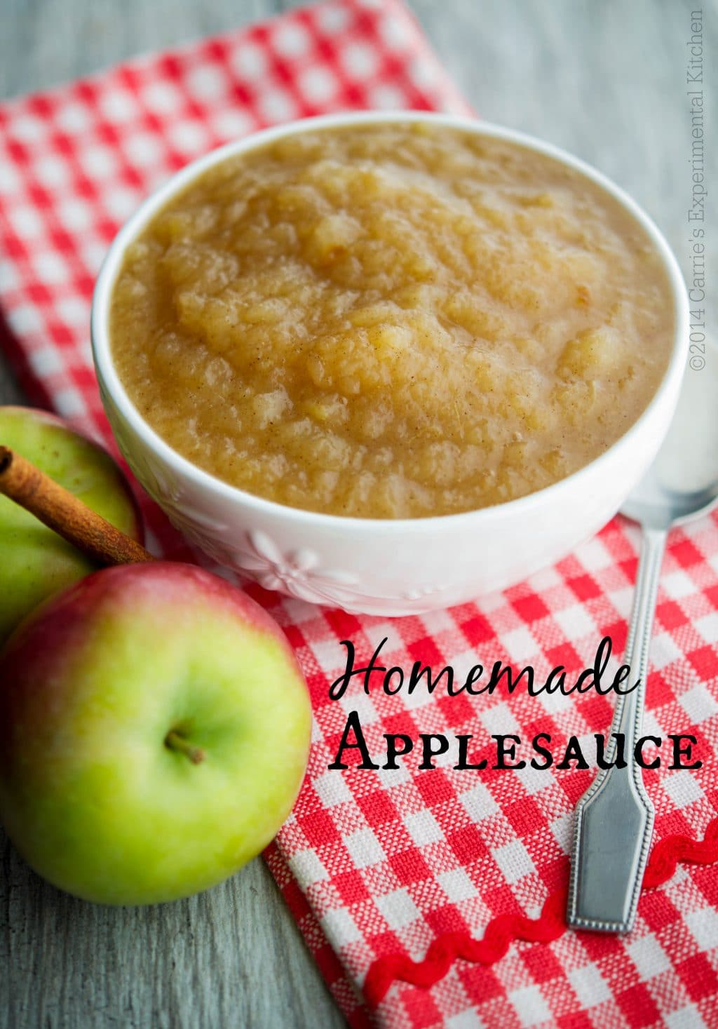 Homemade Applesauce - Carrie's Experimental Kitchen