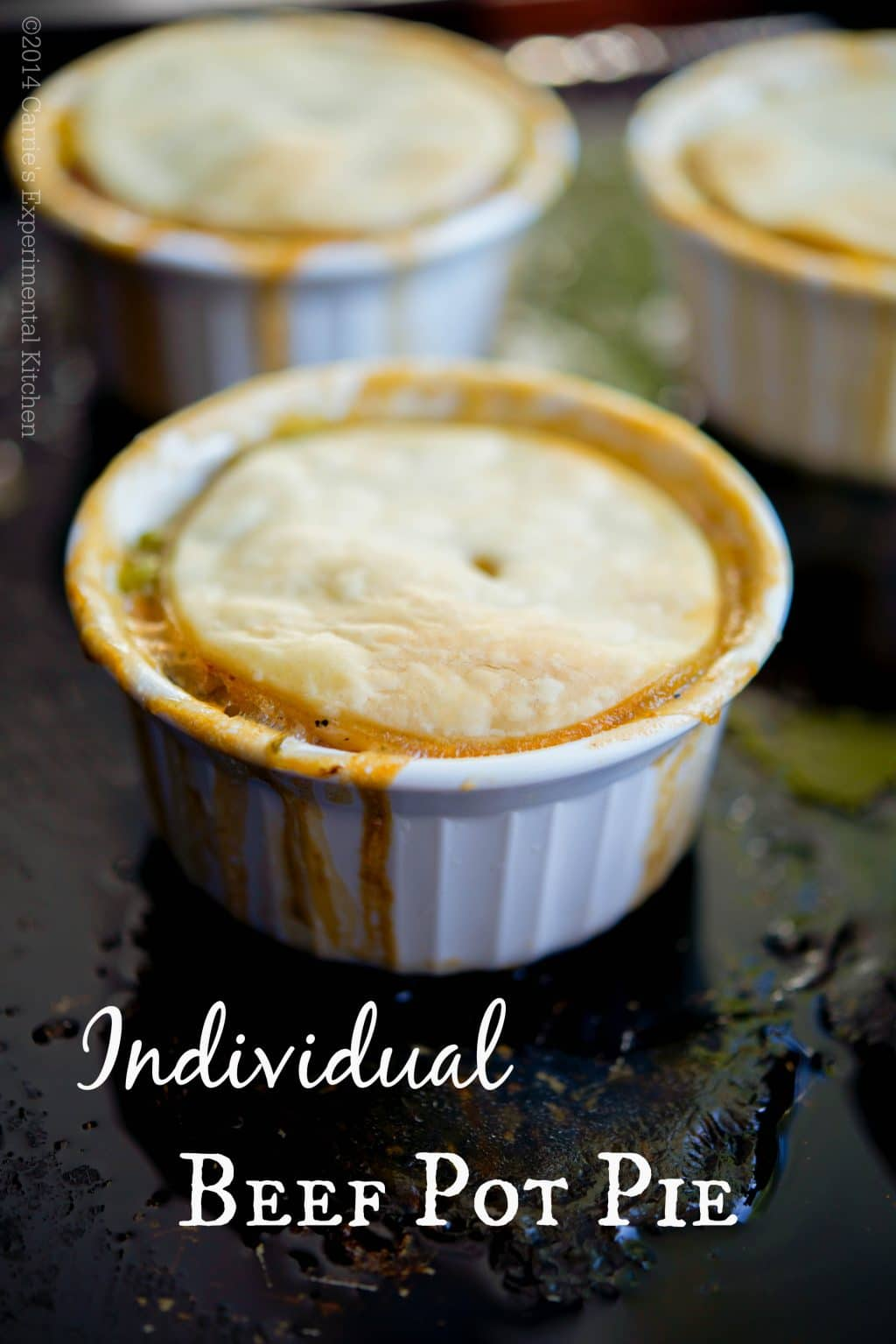 Individual Beef Pot Pie | Carrie's Experimental Kitchen #beef