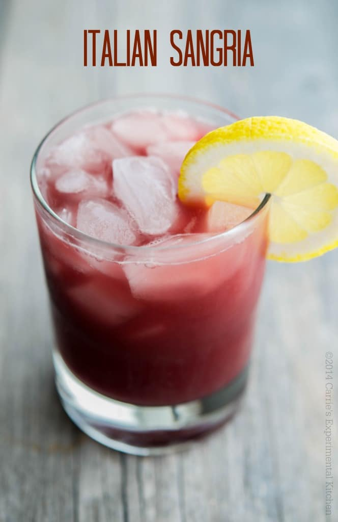 This Italian Sangria made with red wine, Limoncello, Sweet Vermouth and orange juice is cool and refreshing on a hot summer day.