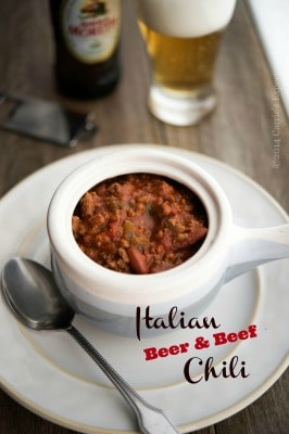 Italian beer and beef chili-cek