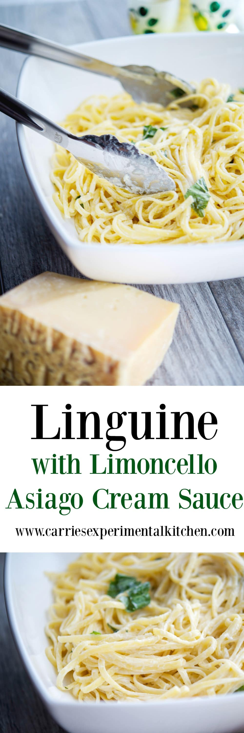 Linguine tossed with a light and lemony Limoncello Asiago Cream Sauce makes the perfect, quick and delicious weeknight meal.