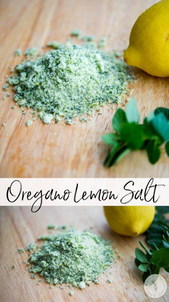 Making your own flavored salt , like this DIY Oregano Salt, is quick and easy. Use to season meat, poultry, fish, vegetables or pasta.