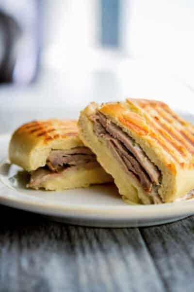 Roast Beef and Asiago Cheese Panini
