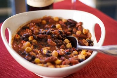 Roasted Fennel & 3 Bean Chili