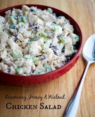 Rosemary, Honey & Walnut Chicken Salad | Carrie's Experimental Kitchen #chicken #salad