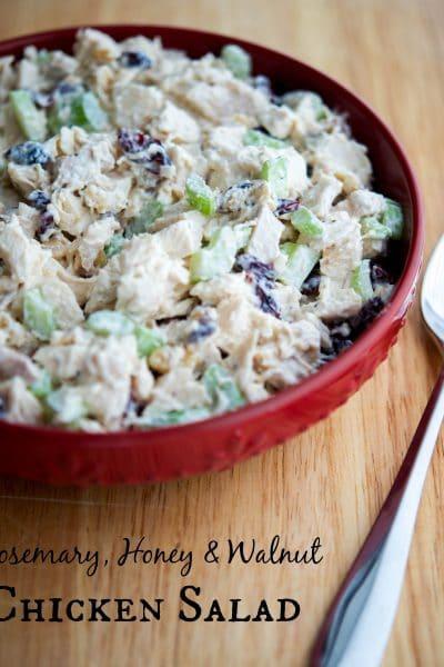 Rosemary, Honey & Walnut Chicken Salad | Carrie's Experimental Kitchen #chicken #salad