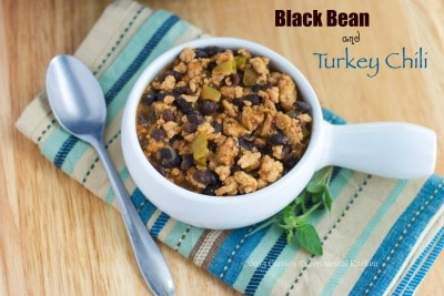 black bean and turkey chili closeup-cek