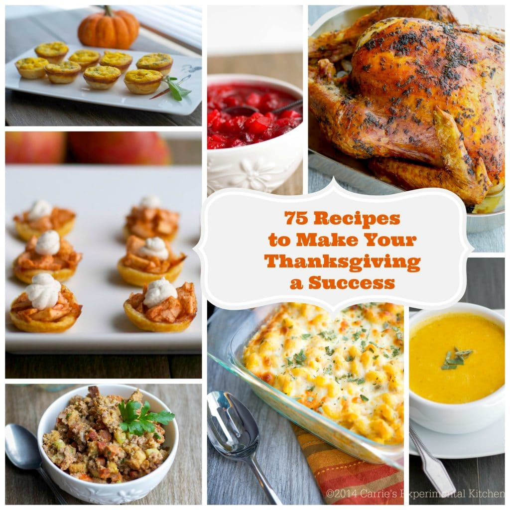 Whether it's your first or fifteenth time hosting Thanksgiving, here are 75 recipes to help make your gathering a success. #thanksgiving #recipes