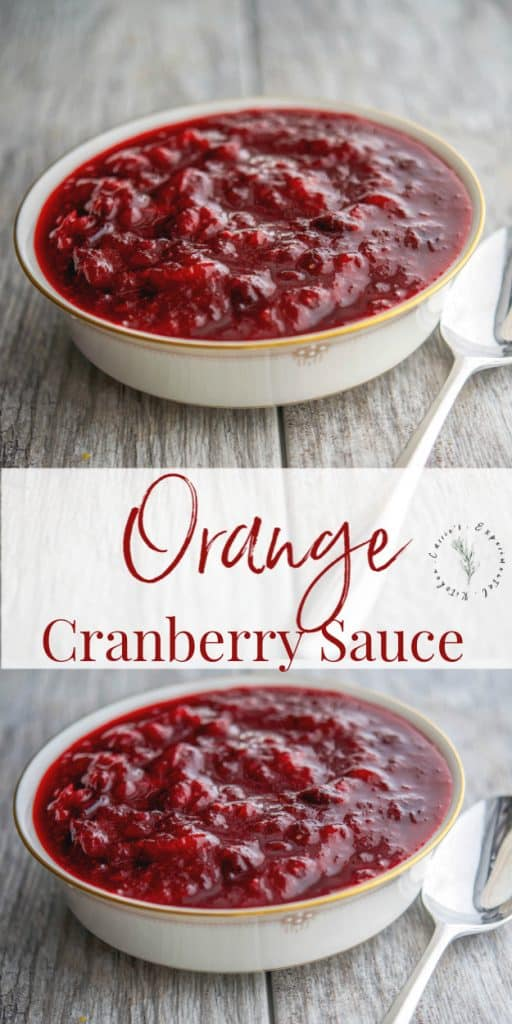 This cranberry sauce made with fresh oranges and ground cinnamon would go perfectly on your Thanksgiving table (and taste great on leftover sandwiches too!)
