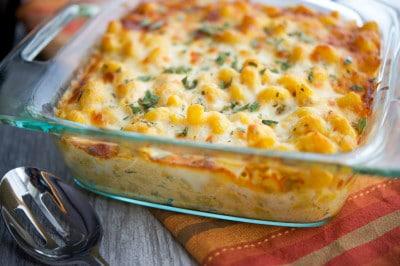 Pumpkin & Sage Baked Macaroni Closeup