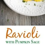 Ravioli with Pumpkin Sage Cream Sauce is so delicious and easy to make; a lovely addition to your holiday menu.